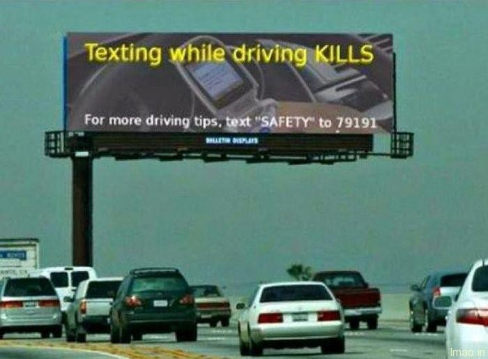 texting-while-driving humorous photos