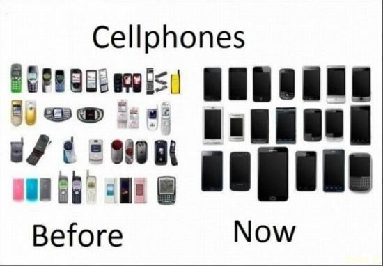 cellphones-before-now humorous photos