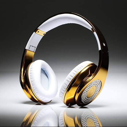 Gold Studio Beats headphones by Dr. Dre