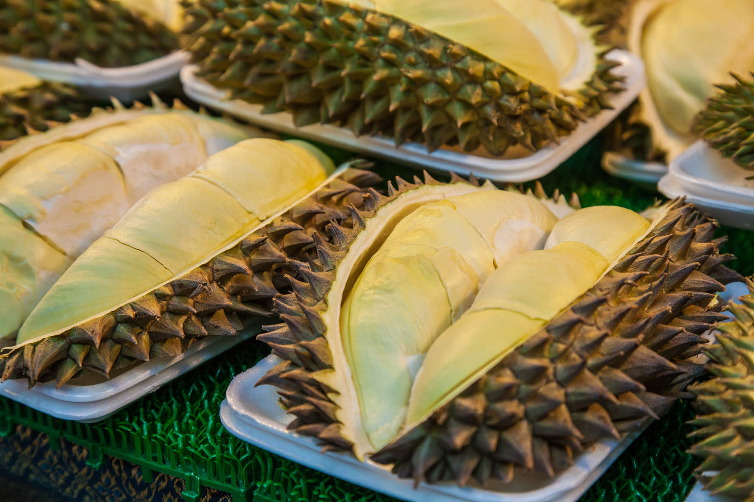 Durian Thailand fresh fruit dishes